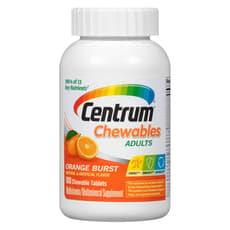 Pfizer Centrum セントラムチュオブルマルチビタミン、オレンジバースト味 100 錠