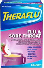 Theraflu 風邪および喉の痛み アップルシナモン 6パケット