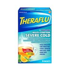 Theraflu ナイトタイム重症の風邪の症状 リプトングリーンティーシトラス 6パケット