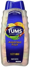 Tums Ultra Strength 1,000 Assorted Fruit 265 Chewable Tablets