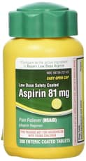 Life Extension Aspirin Low Dose 81 mg 30 Enteric Coated Tablets