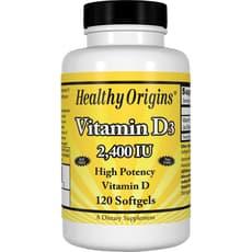 Healthy Origins ビタミン D3 2,400 IU 120 ソフトジェル
