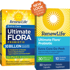 Renew Life Ultimate Flora Extra Care Probiotic Go Pack 30 Billion 30 Veg Capsules
