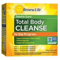 Renew Life Total Body Cleanse Complete 14-Day Internal Cleanse 140 Veg Capsules (3 Part Program)
