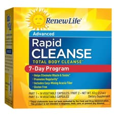 Renew Life Total Body Rapid Cleanse 7 Day Program 28 Veg Capsules 63 g (3 Part Program)