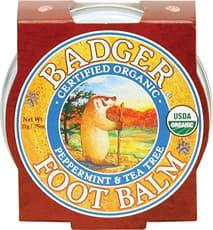 Badger オーガニックフットペパーミントアンドティーツリーミニ 21 g