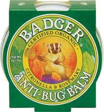 Badger オーガニックアンチバグのバーム、シトロネラ&ローズマリーミニティーン21 g