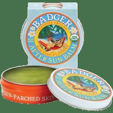 Badger オーガニックアフターサンバーム、ブルータンジー&ラベンダー56 g