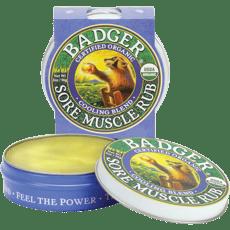 Badger オーガニックソオマッスルヨーロッパ、クーリングブレンド56 g