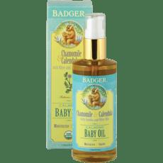 Badger カミングベビーオイルカモミール&カレンデュルラ118 ml