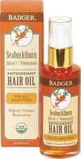 Badger Seabuckthorn Hair Oil 2 fl oz