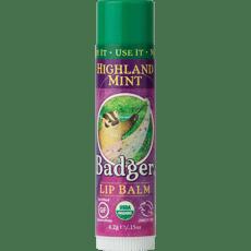 Badger オーガニックリップバーム、ハイランドミント4.2 g