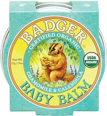 Badger オーガニックベビーバーム、カモミール&カレンデュルラ21 g