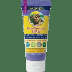 Badger アクティブナチュラルミネラル日焼け止めSPF 30、ラベンダー87 ml