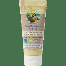 Badger ティントミネラル日焼け止めSPF 30、無香87 ml