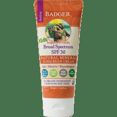 Badger キッズナチュラルサンクリームSPF 30、タンジェリン&バニラ87 ml