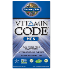 Garden of Life Vitamin Code Mens Multi 240 Veg Capsules