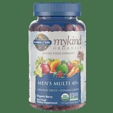 Garden of Life マイカインドオーガニックス 男性用 マルチ 40+ オーガニック フルーツ + ビタミン チューズ 120  ビーガングミ