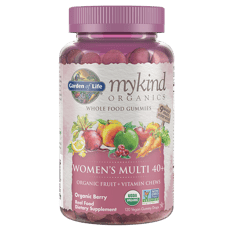 Garden of Life マイカインドオーガニックス 女性用 マルチ 40+ オーガニックフルーツ + ビタミン チューズ 120 ビーガン組