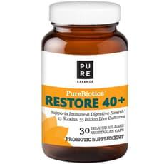Pure Essence PureBiotics Restore 40+ 30 Veg Capsules
