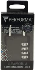Performa Premium Combination Gym Lock Black 1 Count