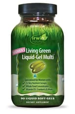 Irwin Naturals 女性用リビンググリーン 液体ジェル マルチ  90ソフトジェル