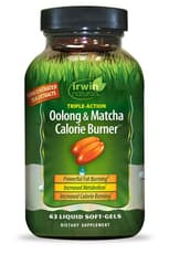 Irwin Naturals 烏龍 & 抹茶ティー, EGCG カロリー - バーニング・ダイエット 63ソフトジェル