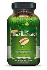 Irwin Naturals 健康肌とヘアプラスネイル 120ソフトジェル