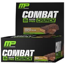 Musclepharm コンバットクランチバーチョコレートピーナッツバターカップ 12個入
