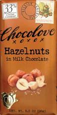 CHOCOLOVE ミルクチョコレートのヘーゼルナッツ 90g