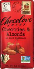 CHOCOLOVE チェリー & アーモンド入り ダークチョコレート 90 g