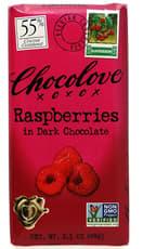 CHOCOLOVE ラズベリー入りブラックチョコレート 88 g