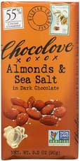 CHOCOLOVE アーモンド & シーソルト イン ダークチョコレート 90 g