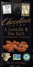 CHOCOLOVE アーモンド&シーソルト入りストロングダークチョコレート 90 g
