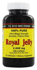 Y.S. Eco Bee Farms Royal Jelly 2,000 mg 75 Capsules