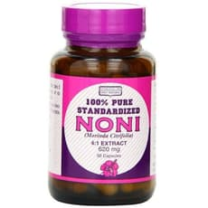 Only Natural Noni 4:1 Extract (Morinda Citrifolia) 620 mg 50 Capsules