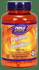 Now Foods アルギニン&シトルリン 500 / 250 mg 120 ベジカプセル