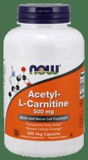 Now Foods アセチル-L-カルニチン 500 mg 200ベジカプセル