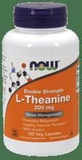Now Foods ダブルストレングス L-テアニン 200 mg 120 ベジカプセル