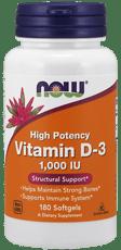 Now Foods ビタミンD-3 1000 IU 180ソフトジェル