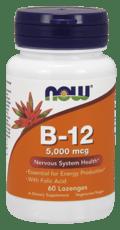 Now Foods B12と葉酸 5,000 mcg 60カプセル