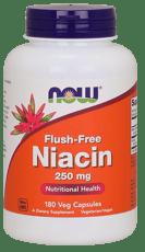 Now Foods フラッシュフリーナイアシン 250 mg 180ベジカプセル