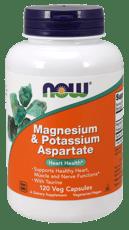 Now Foods マグネシウム & アスパラギン酸カリウム 120ベジカプセル