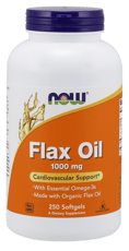 Now Foods フラックス オイル 1,000 mg 250ソフトジェル
