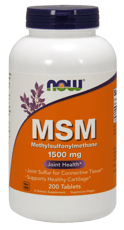 Now Foods MSM 1,500 mg 200錠