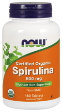 Now Foods オーガニック スピルリナ 500 mg 180錠