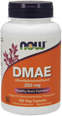 Now Foods DMAE (ジメチルアミノエタノール) 250 mg 100 ベジカプセル
