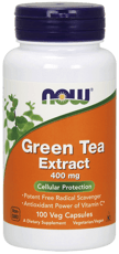 Now Foods グリーンティーエクストラクト 400 mg 100ベジカプセル