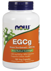 Now Foods EGCg 緑茶エキス 400 mg 180 ベジカプセル