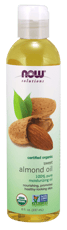 Now Foods Sweet Almond Oil Certified Organic 8 fl oz